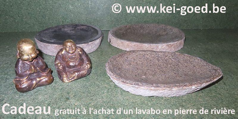 Cadeau gratuit à l'achat d'un lavabo en pierre de rivière