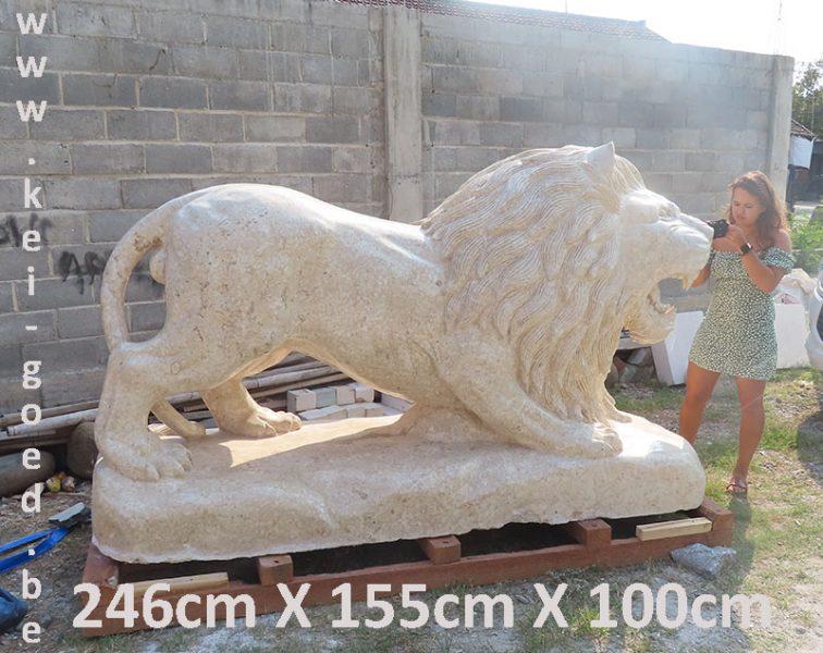 grote leeuw van marmer