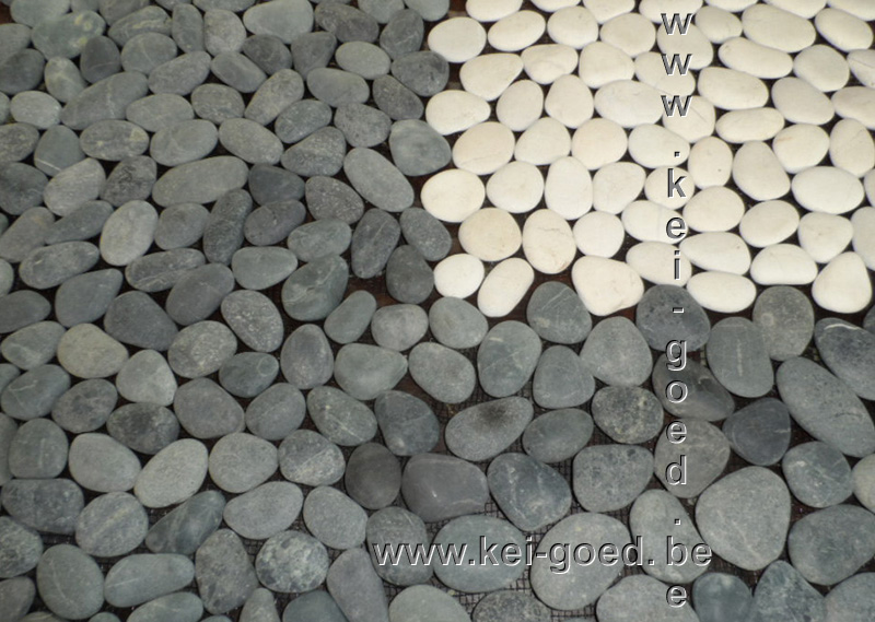 Mozaiek Pebble Kiezelvloer Marmer Tegelmatten Voor Wand En