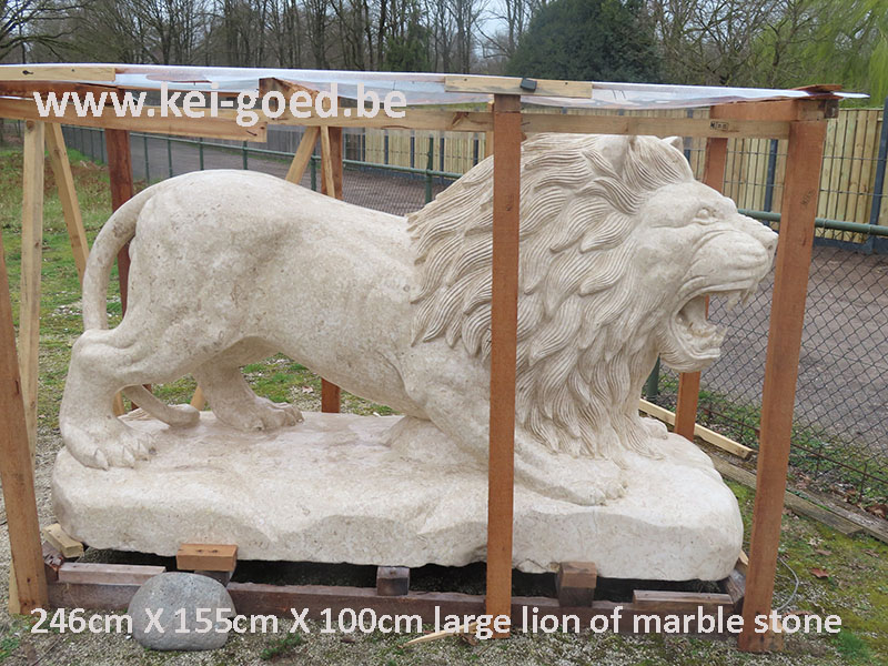 large lion of marble stone