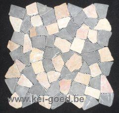 mozaiek roze grijs