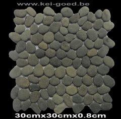mozaiek pebble kiezelvloer marmer