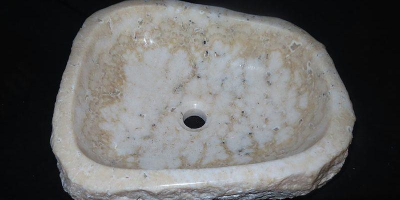 Onyx marmer wastafel opbouw