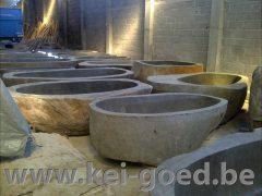 riviersteen badkuip