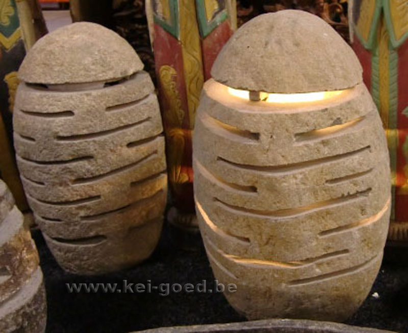 Lampen van riviersteen of lampen van natuursteen