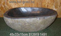 Waskom gepolijst van steen