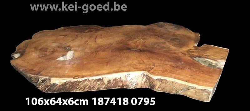 erosie hout voor salontafel