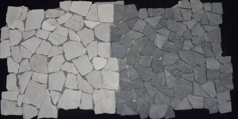 grande tuile tapis de mosaïque de marbre