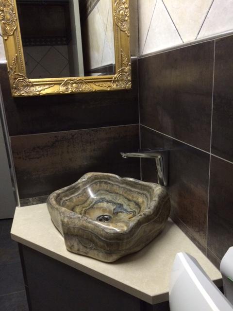 lavabo onyx marmer cafe sporthuis Den Beke