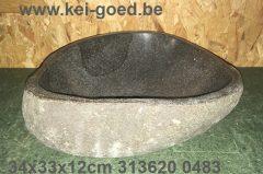middelmaat opbouw wastafel riviersteen