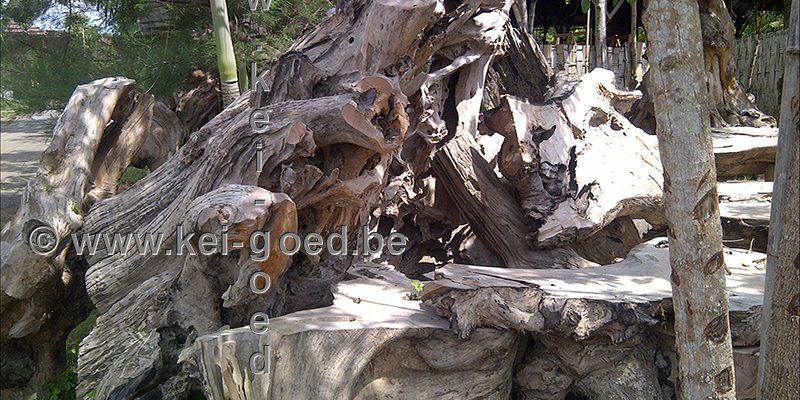 erosie hout voorraad