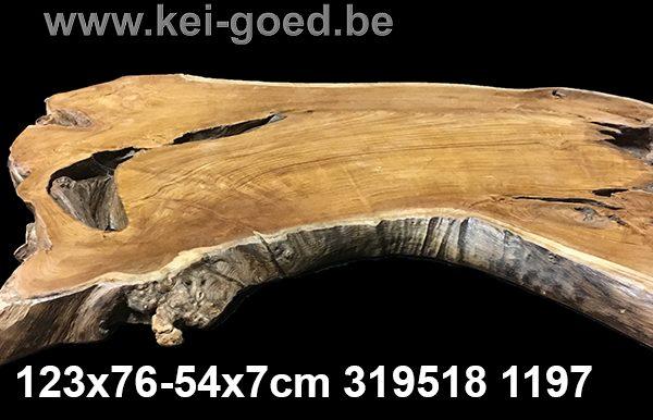 erosie houten tafelblad