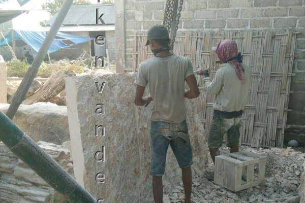 werken aan natuursteen