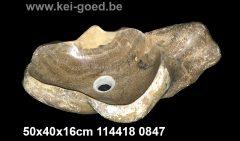 exceptioneel wasbak van onyx marmer