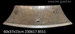 design beige marmer opbouw wastafel
