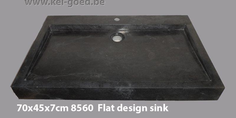 plat design marmer wastafel