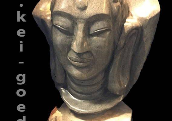 Image de Bouddha de la pierre de la rivière