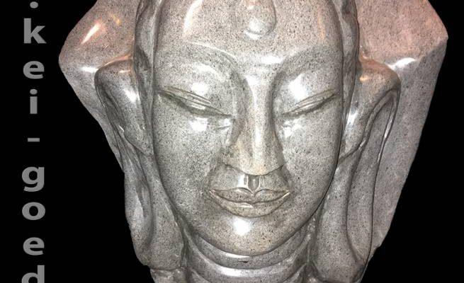 uniek zeldzaam Buddha beeld van graniet