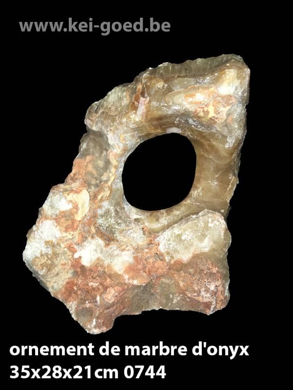 ornement de marbre d'onyx