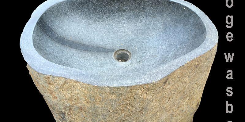 wastafel pedestal van riviersteen