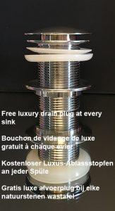 gratis luxe avoerplug bij alle wastafels