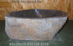 Pompbak natuursteen Lavabo