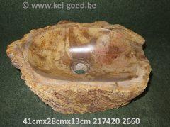 versteend hout gootsteen