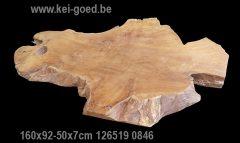 erosie houten plaat van wortel