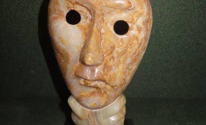 entendre voir et parler pas de mauvais masques de marbre Onyx