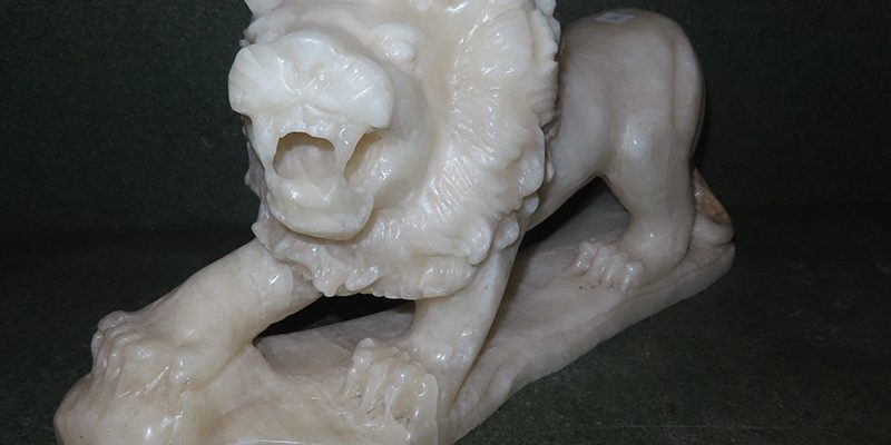 lion carved in marble