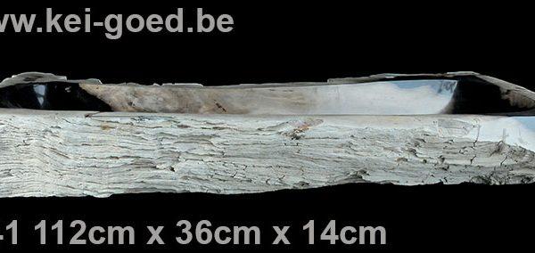 extra lange versteend houten wasbak