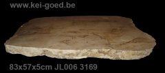 versteend houten tafelblad voor salontafel
