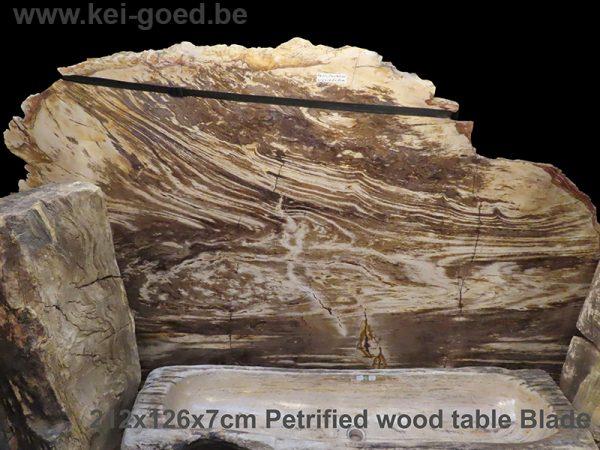 Groot natuurstenen versteend hout tafelblad