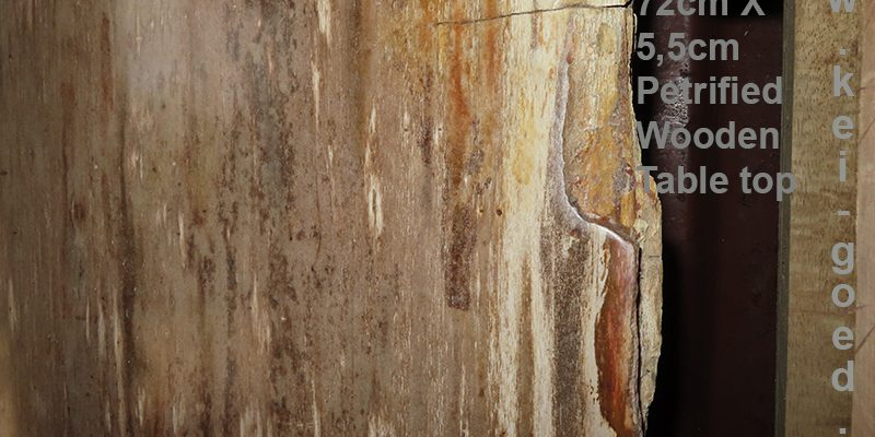 detail versteend houten tafelblad