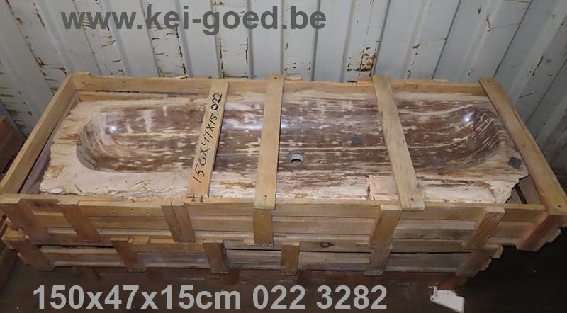 trough of petrified wood